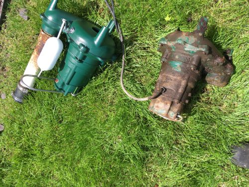 replacement of damaged sump pump